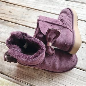 Purple UGG Bow boots size 7